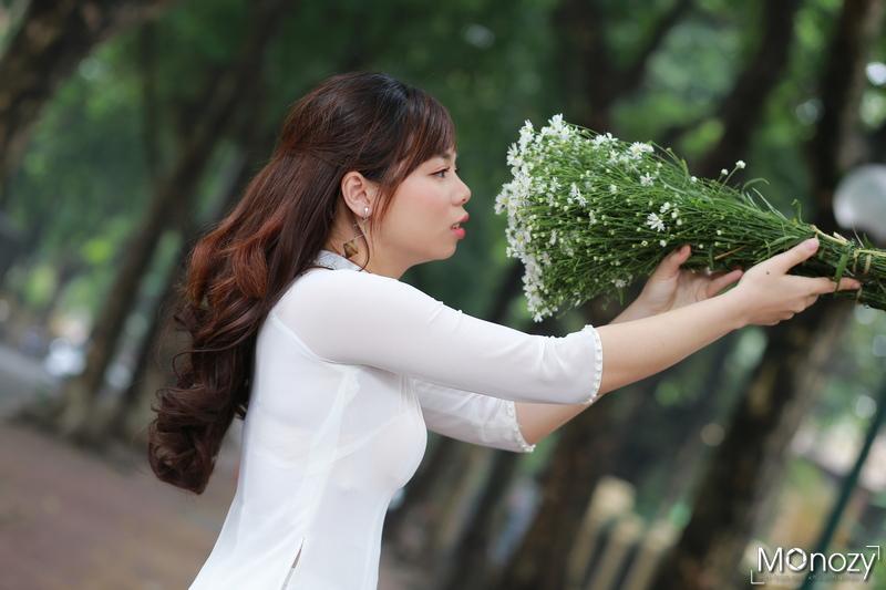 Bộ ảnh chụp áo dài đẹp ngày Hà Nội giao mùa