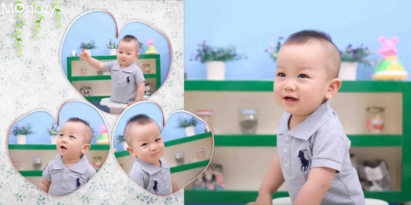 Các cách tạo dáng chụp hình thôi nôi cho bé trai đẹp